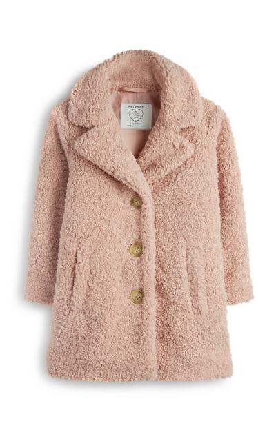 Younger Girl Blush Teddy Coat