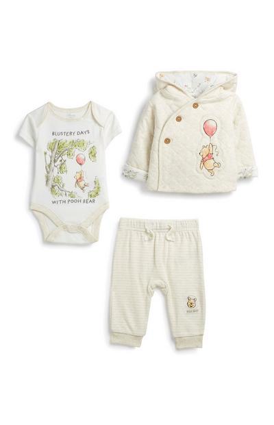 Komplet za novorojenčke Winnie The Pooh, 3 kosi