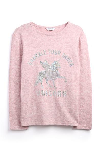 Jersey con unicornio para niñas mayores