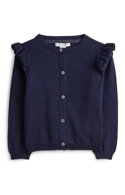 Younger Girl Navy Cardigan
