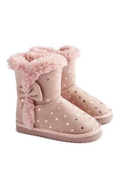 Younger Girl Heart Snow Boot