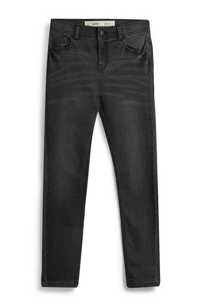 Jeans skinny grigio scuro da ragazzo