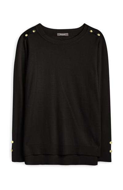 Črn izjemno mehak pulover