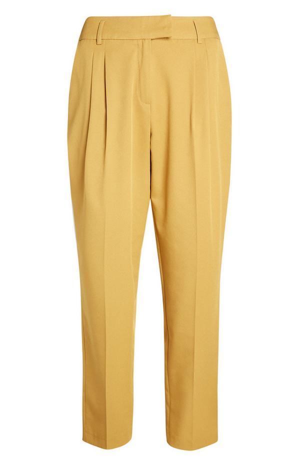 Gele broek met toelopende pijpen