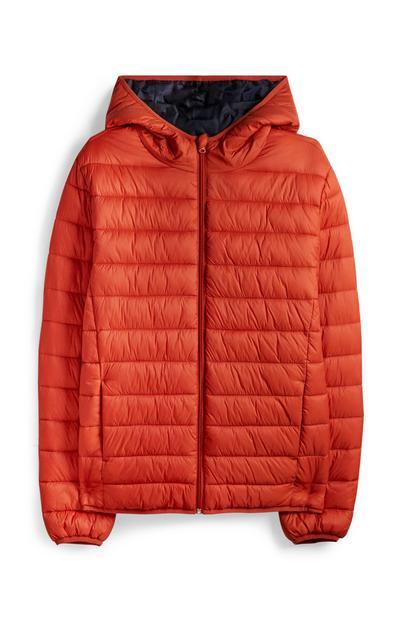 Doudoune à capuche orange