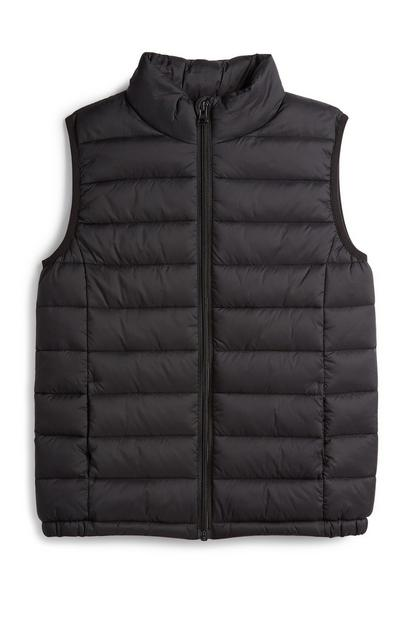 Older Boy Black Gilet