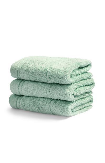 Duck Egg Blue Ultra Soft Face Towels 3Pk