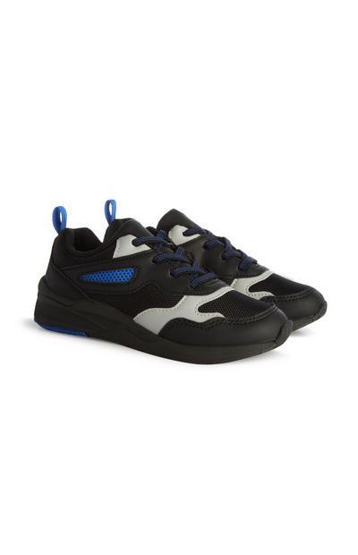 Zwart-blauwe sneakers, jongens