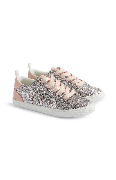 Younger Girl Glitter Trainer