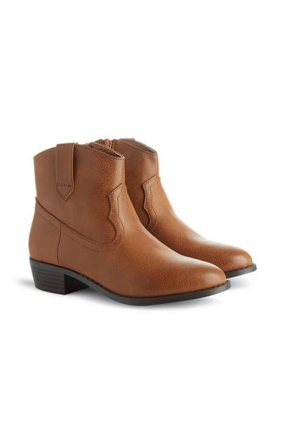 Bottines style western marron fille