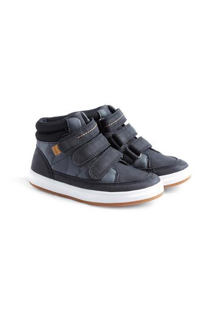 Sneaker alte con motivo mimetico da bambino