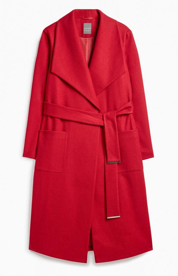 Mantel WickelgürtelMäntel Roter Mit WickelgürtelMäntel Roter Jacken Mit Mantel Jacken 34j5RAL