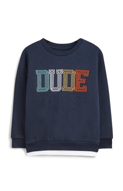 Sweatshirt mit Spruch (kleine Jungen)