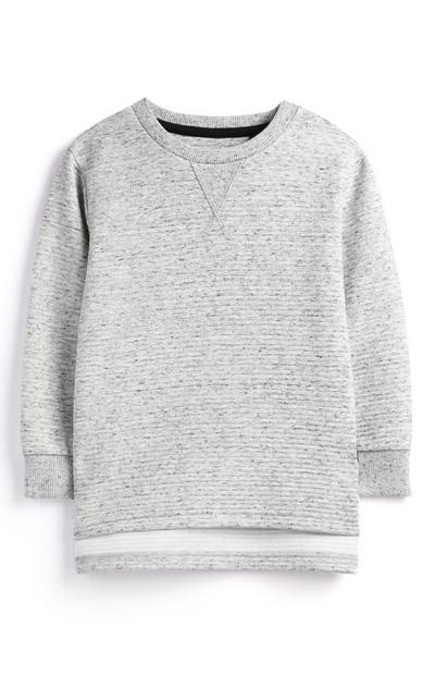 Grauer Pullover (kleine Jungen)