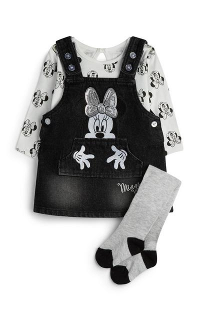Outfit Minnie Mouse, 3 stuks