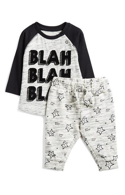 Graues Outfit für Babys (J), 2-teilig