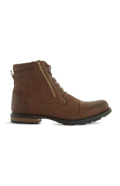 Bottines militaires marron