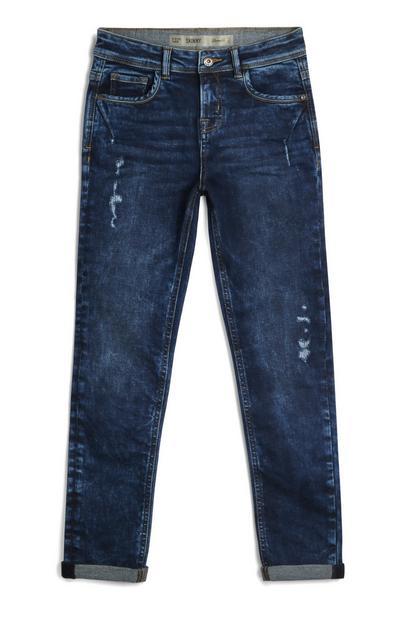 Jeans con risvolto da ragazzo