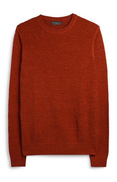 Oranžen pulover z dolgimi rokavi
