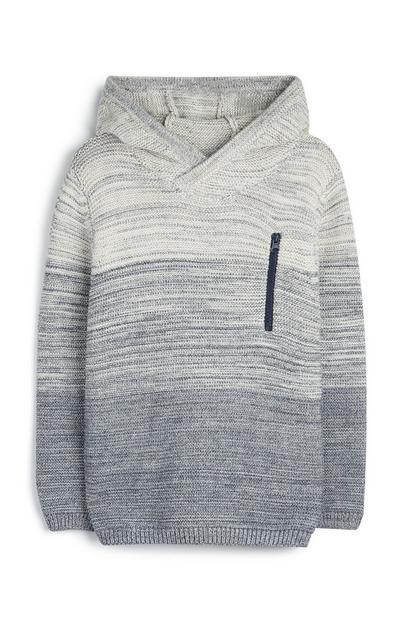 Younger Boy Knit Hoodie