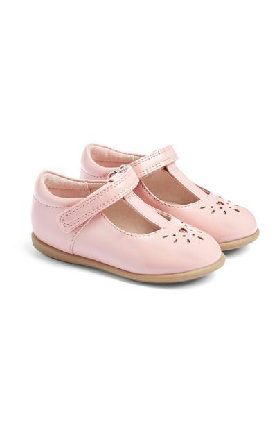 Sapatos menina bebé cor-de-rosa