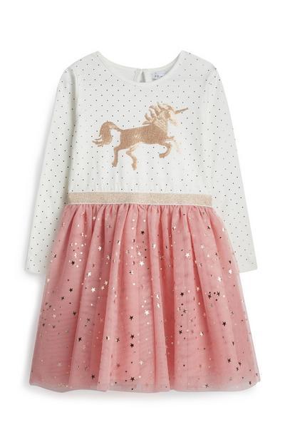 Abito con unicorni da bambina