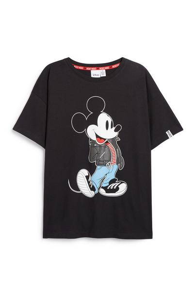 T-shirt noir Mickey Mouse