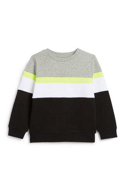 Sweat-shirt color-block garçon