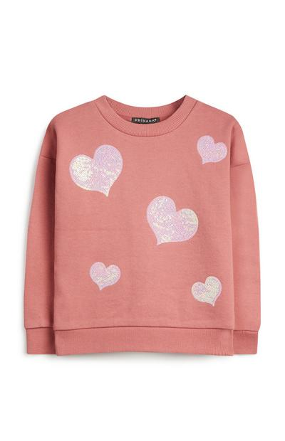 Younger Girl Pnk Sequin Jumper