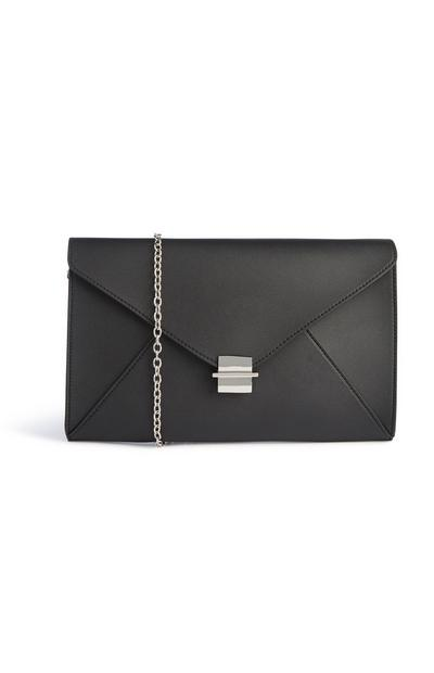 Clutch tipo envelope preto