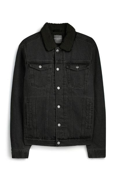 Black Fleece Denim Jacket