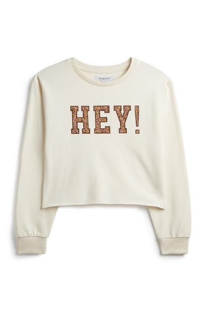 Sweatshirt mit Slogan (Teeny Girls)