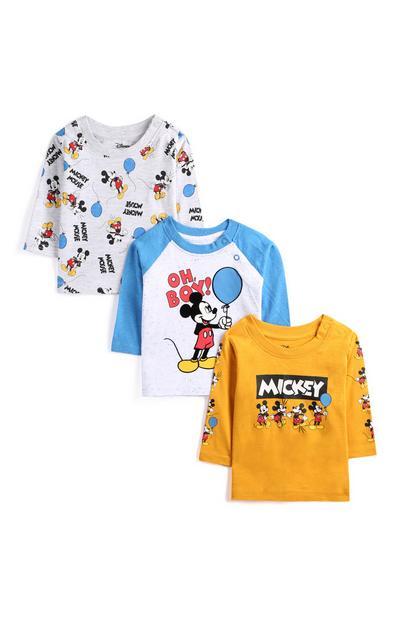 T-shirt Mickey Mouse voor jongens, set van 3