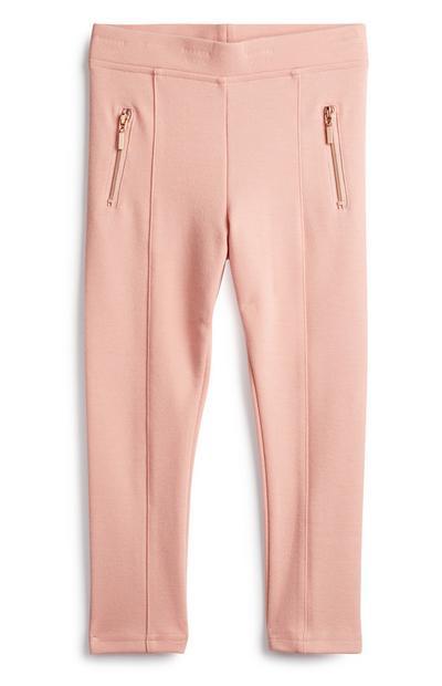 Leggings cor-de-rosa menina