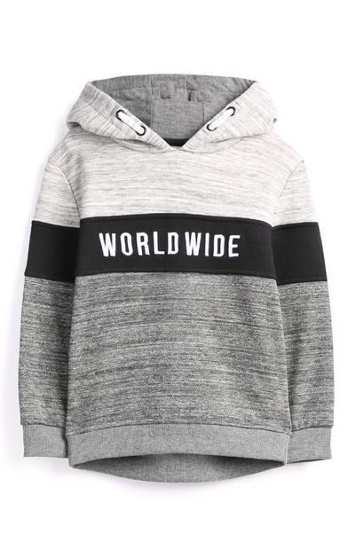 Grijze hoodie, jongens