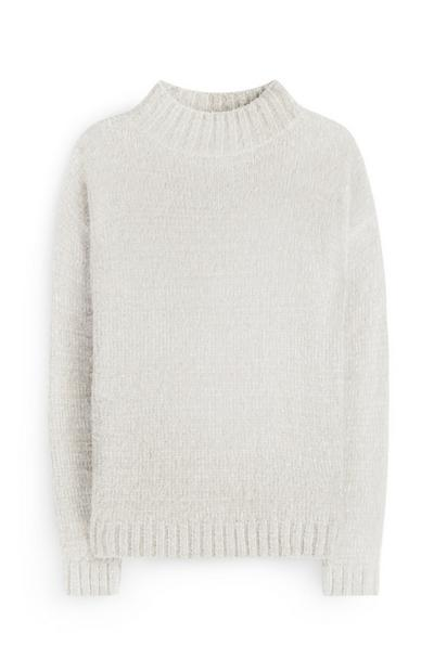 White Fluffy Pullover