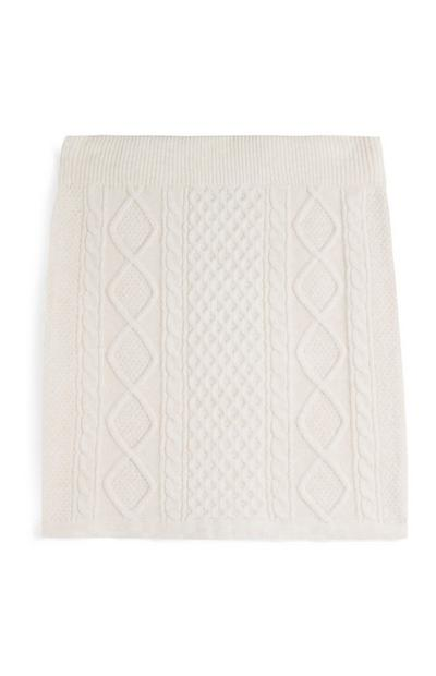 Cream Cable Knit Skirt