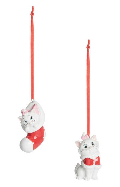 Marie Aristocats Christmas Decorations 2Pk