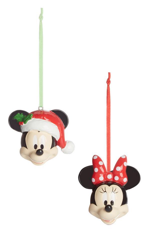 Kerstballen Mickey & Minnie Mouse