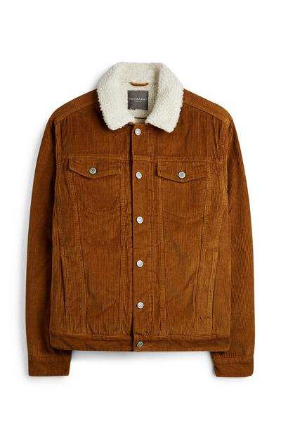 Brown Fleece Collar Jacket