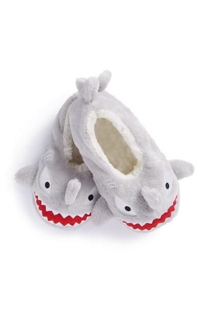 Pantufas tipo meia tubarão