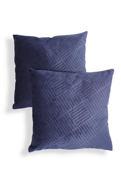 Purple Textured Velvet Cushions 2Pk