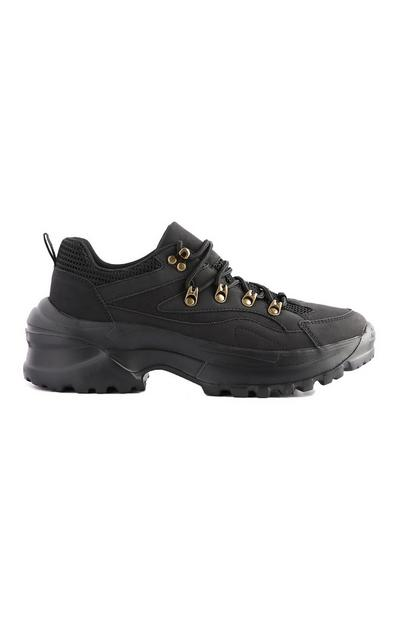 Zwarte wandelschoen