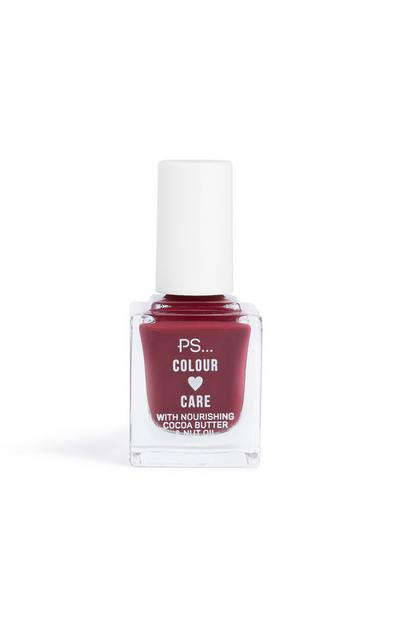 Nagellak Colour And Care, wijnrood