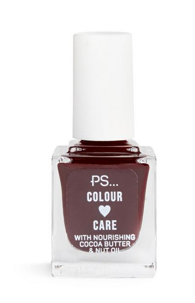 Aubergine Colour And Care Nail Polish