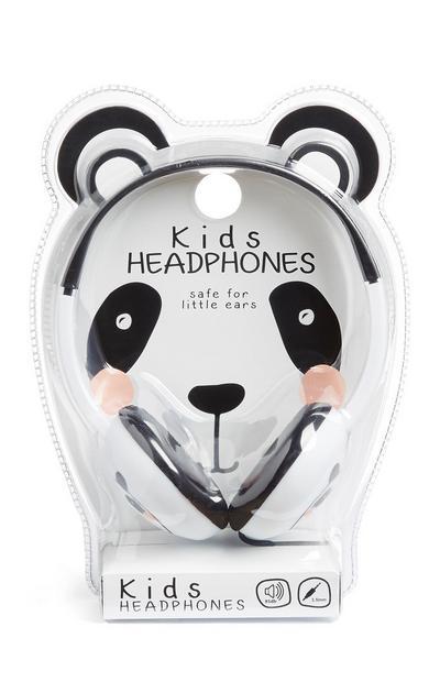 Koptelefoon met witte pandaprint