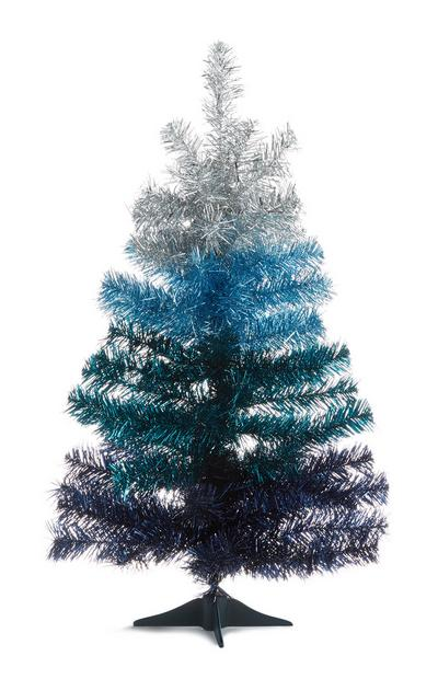 Arbre bleu dégradé effet guirlande 61cm