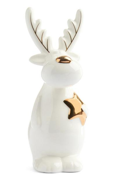 Ceramic Small Christmas Moose