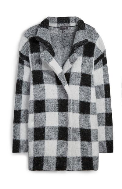 Black/White Check Coat