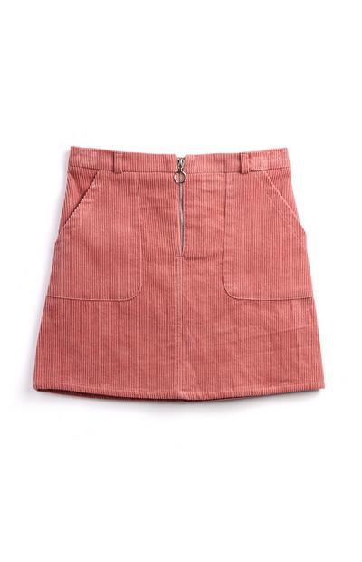 Older Girl Zip Blush Skirt